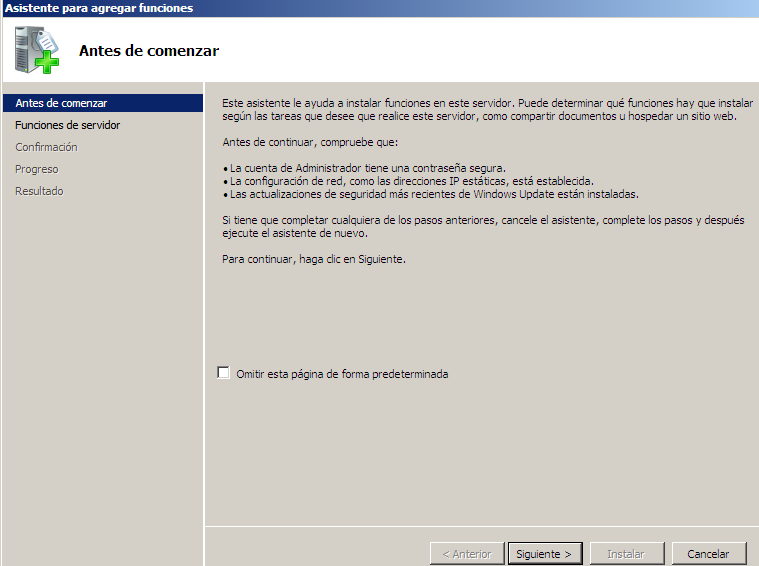 2. Instalación y configuración del servidor FTP IIS en Windows 2008 Server.