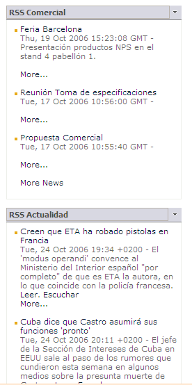 RSS INTRANET DINAMICA