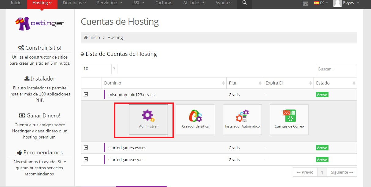 hostings: 3, Instalamos Prestashop 3.