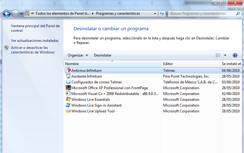 Windows 7 A.