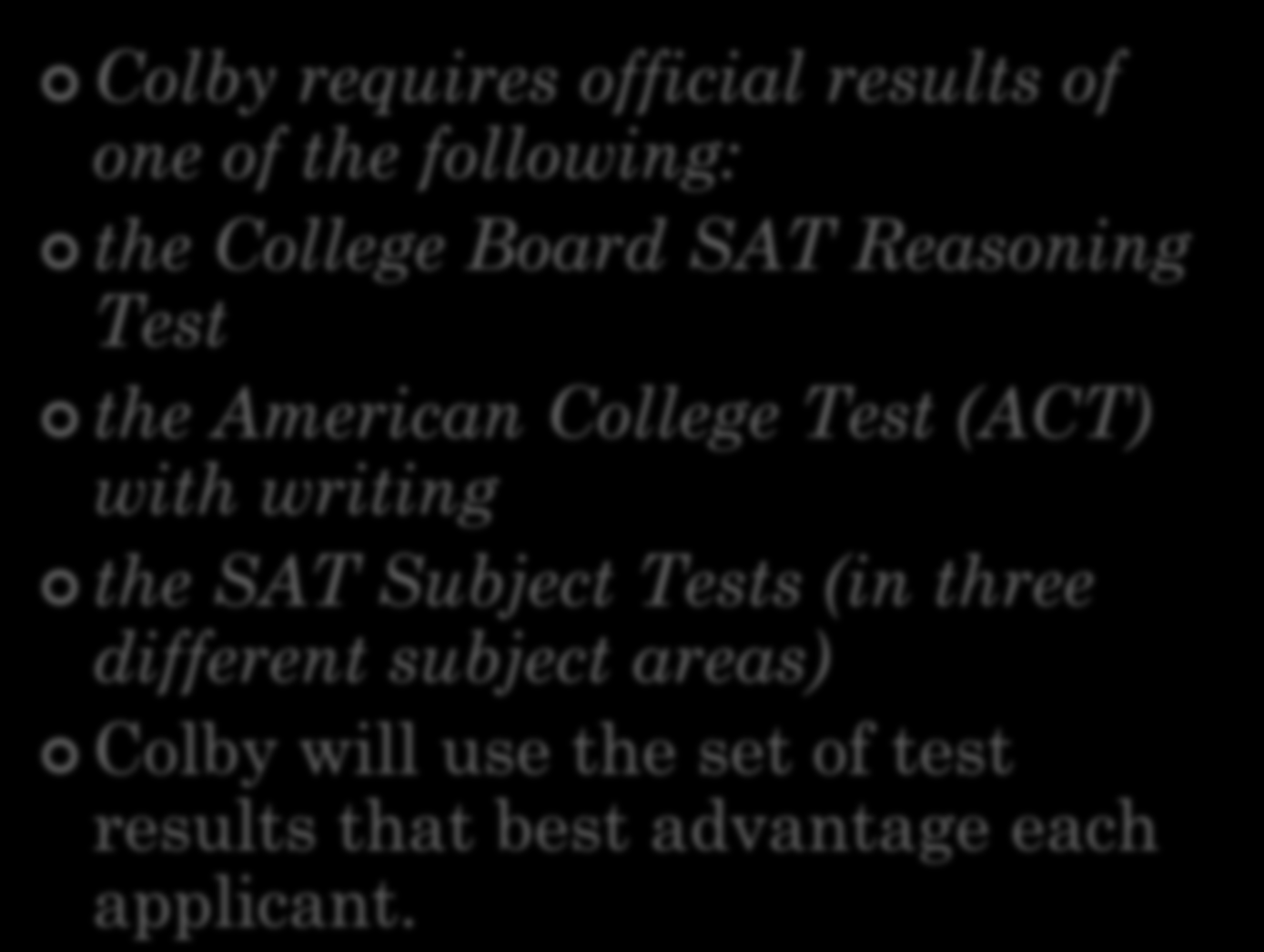 Journalism college subject test requirements
