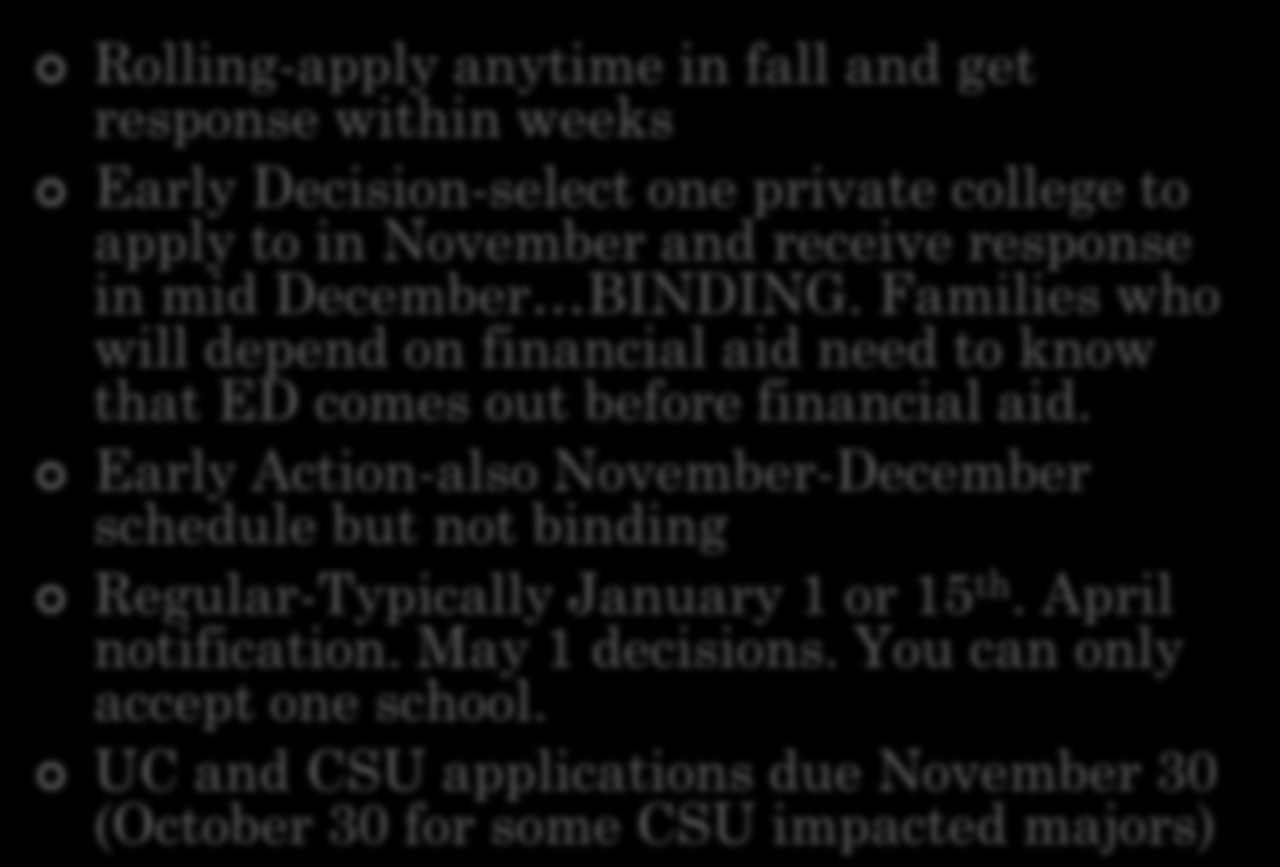 do csu need essays