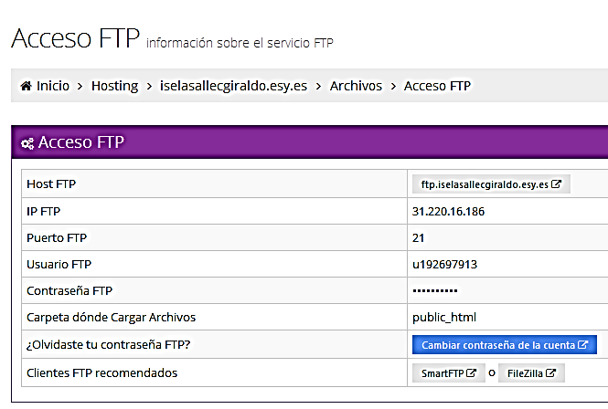 4. Configuración de filezilla Descarga del