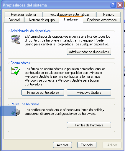 En el caso de que Windows XP no instale los drivers correctamente (2)