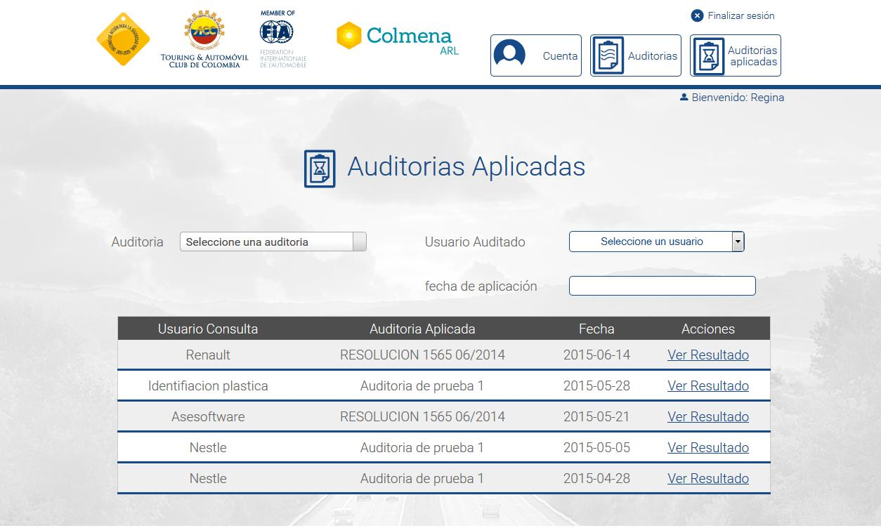 SOFTWARE AUDITORIA DE SEGURIDAD VIAL