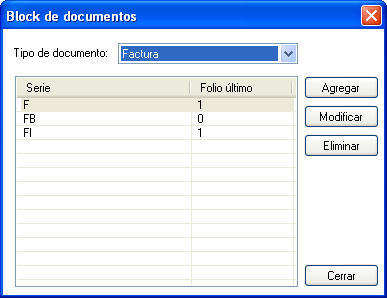 blocks de documentos.
