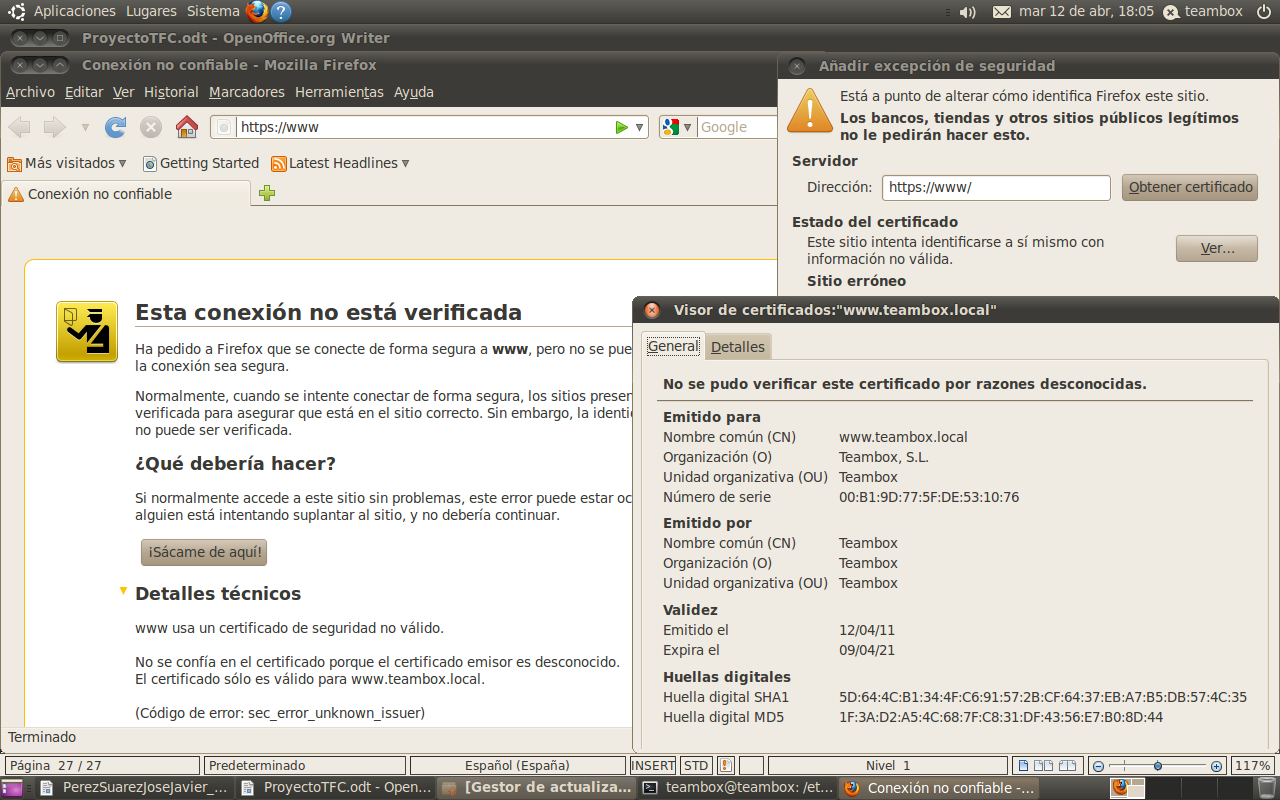 teambox@teambox:/etc/ssl$ sudo cp /home/teambox/certificados/teambox/servidor-cert.pem.