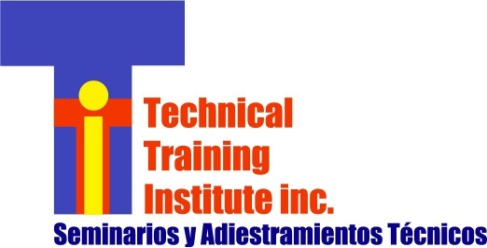 Daniel Rodríguez, Presidente Technical Training Institute, Inc. www.ttipr.com ttipr@onelinkpr.net 787.645.3157 787.780.