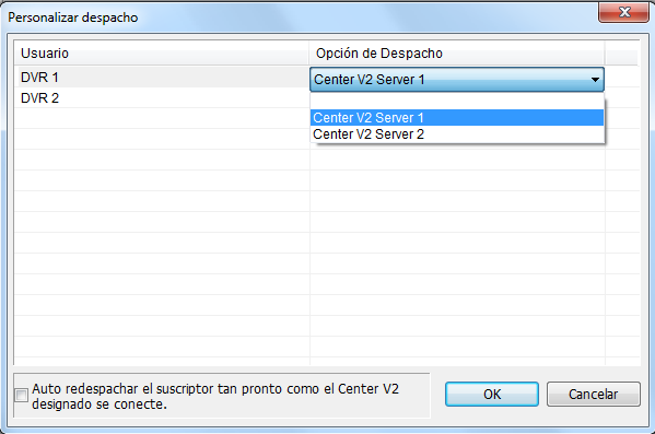 7 Dispatch Server 7.2 2BDesignar un servidor Center V2 primario En Dispatch Server V8.