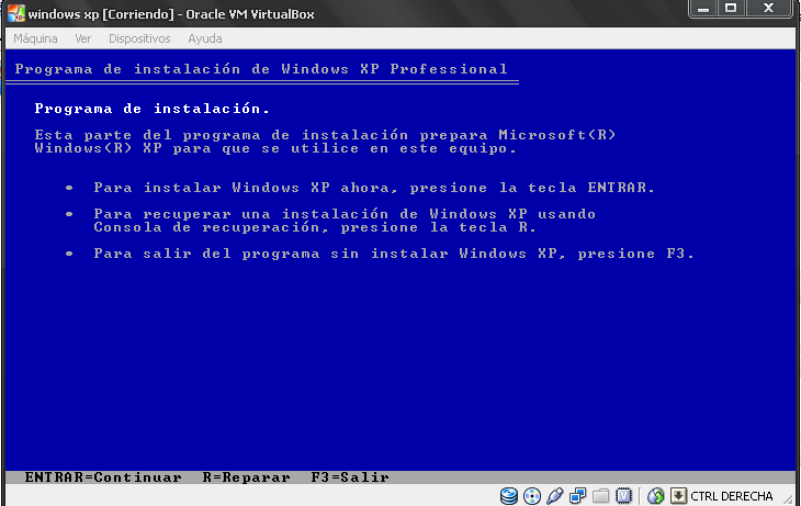 INSTALACION DE WINDOWS XP 1. Para la instalación de Win.