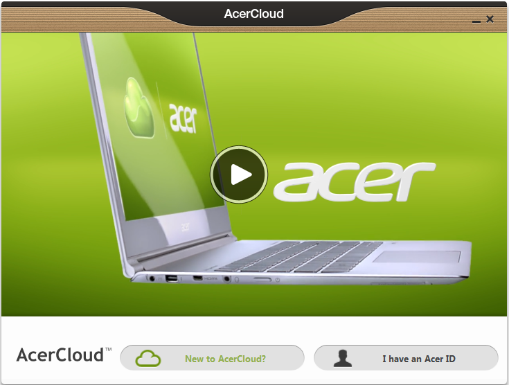 Nota: AcerCloud está diseñado para Windows 7 y Windows 8. No es compatible con los sistemas operativos anteriores de Windows o MAC OS X.