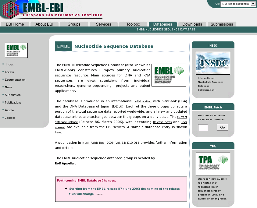 EMBL-BANK Release 86 on 28-FEB2006. 69,783,593 entries.