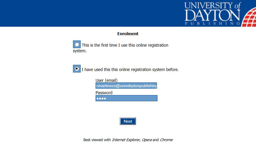 Enrolment Process Registering Personal Information Please select the option which suits you best; if you have not used the