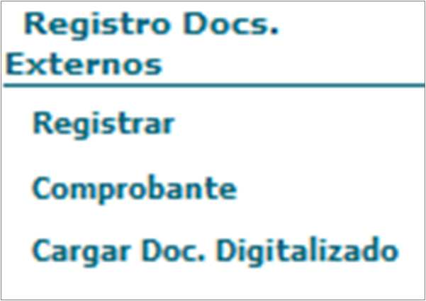 Registro de documentos Registrar documento.