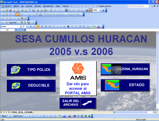 SESA s CUMULOS TERREMOTO y HURACNA 2006 DAÑOS AMIS, MAYO 2007 ANEXO 2.1 Estadística por Estado / Pólizas Facultativas / Total Deducibles / Total Zonas / Periodo: 2005 y 2006. ANEXO 2.2 Estadística por Estado / Pólizas 1er Excedente / Total Deducibles / Total Zonas / Periodo: 2005 y 2006.