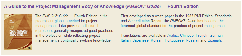 A Guide to the Project Management Body of Knowledge (PMBOK Guide) Con más de 3.750.