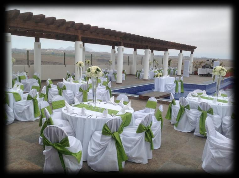 Recepcion Carpa con vista al Mar Capacidad 400 max (150 min ) Terraza & Salon