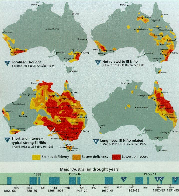 essay drought 1991 95 australia An essay on the drought of 1991-95 in australia1995 was a long-lived, el niã â±o related drought it was one of the longest of the twentieth centuryand one of the most destructive in terms ofdamage to the physical environment.