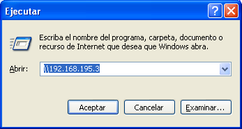 - Como están en Red las 3 maquinas es posible conectarse y compartir archivos entre el Windows Xp principal y el Windows Xp virtual sin ningún problema: a)