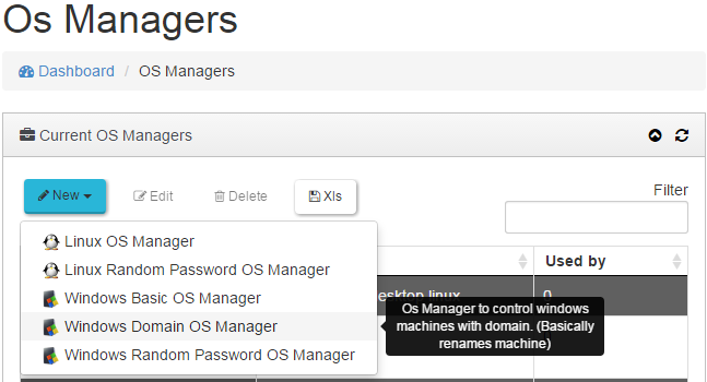 "4.4.4 Windows Domain OS Manager Un ""Windows Domain OS Manager"" es utilizado para"