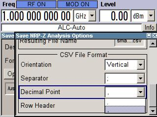 Demo Guide and Extended Operating Guide R&S SMA-K28 Excel Support in CSV Format Apart from the four image formats, the measurement data can also be saved in numerical format (CSV) and imported into