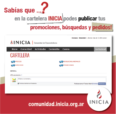 Sumate a INICIA ONLINE!
