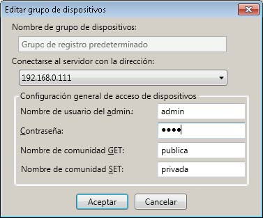 Herramienta de registro de MFD de ConnectKey for SharePoint Interfaz del administrador de registro de dispositivos Descripción general del registro de dispositivos Establecer los parámetros para el