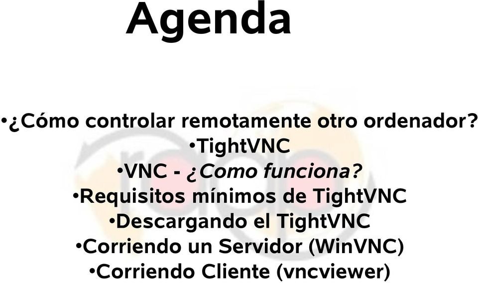 Requisitos mínimos de TightVNC Descargando el
