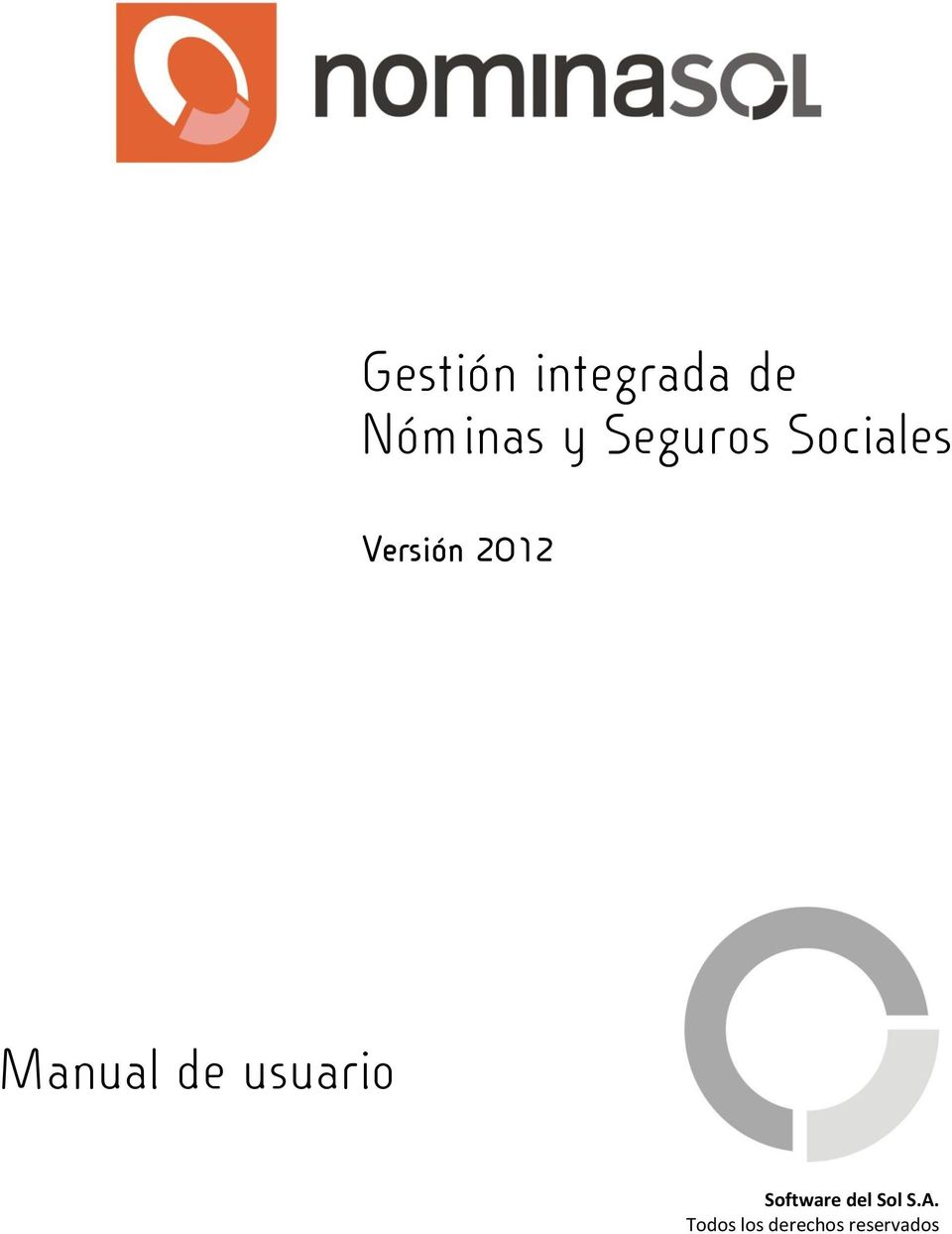 Manual de usuario Software del