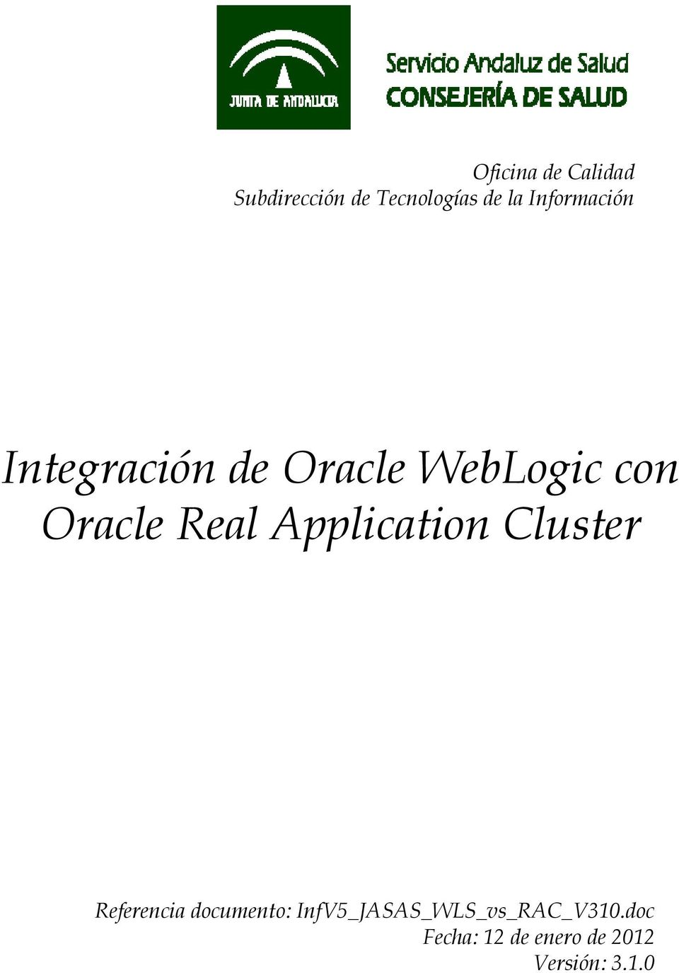 Oracle Real Application Cluster Referencia
