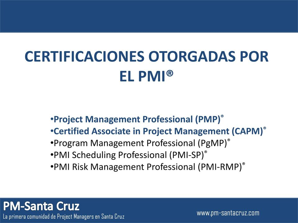 (CAPM) Program Management Professional (PgMP) PMI Scheduling