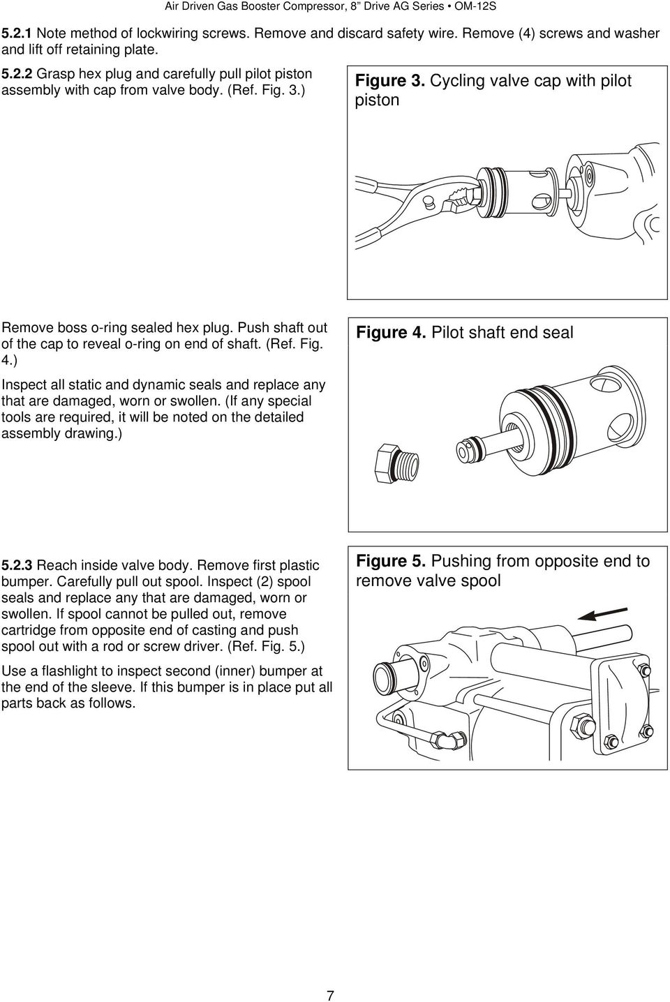 ) Inspect all static and dynamic seals and replace any that are damaged, worn or swollen. (If any special tools are required, it will be noted on the detailed assembly drawing.) Figure 4.