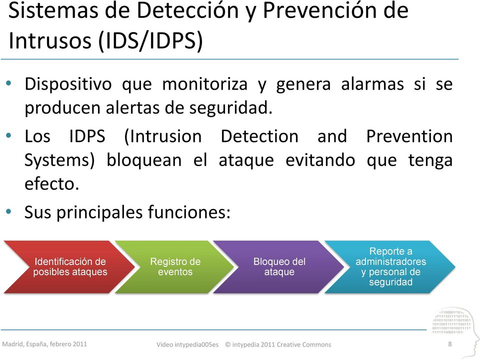 Los IDPS (Intrusion Detection and Prevention Systems) bloquean el ataque evitando que tenga efecto.