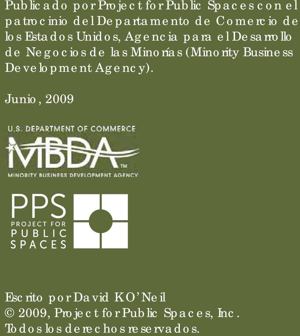 Minorías (Minority Business Development Agency).