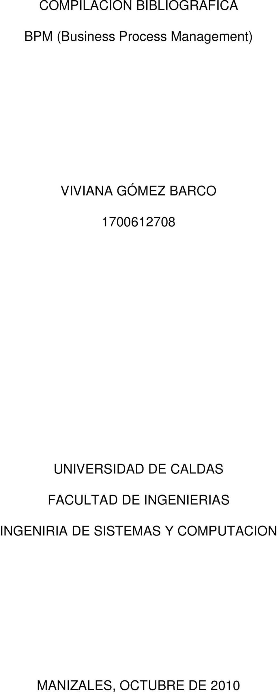UNIVERSIDAD DE CALDAS FACULTAD DE INGENIERIAS