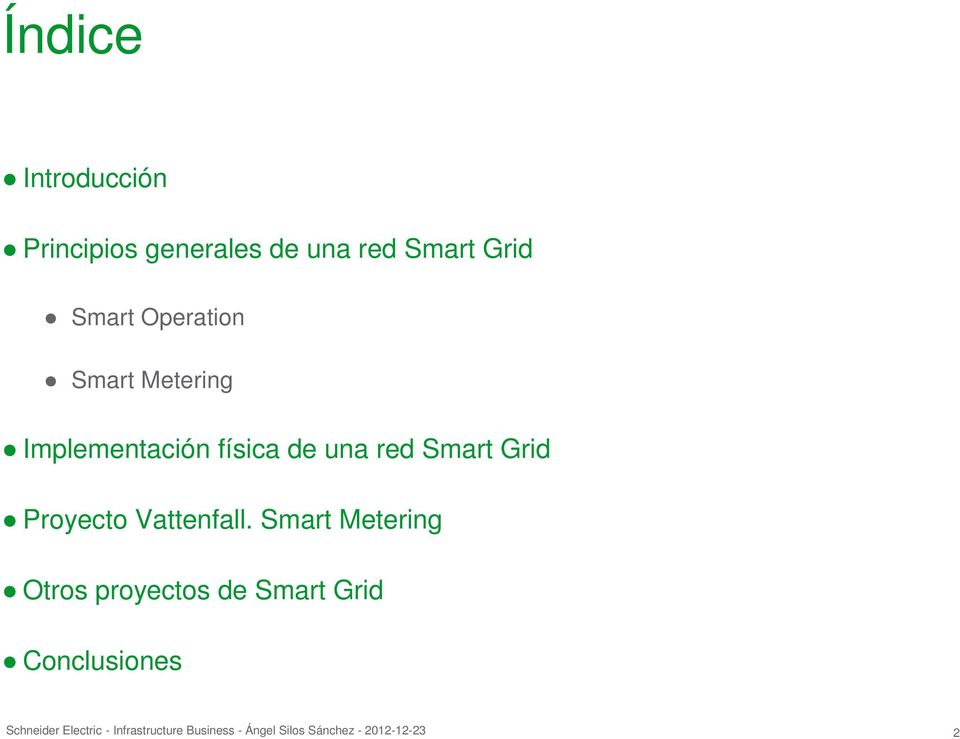 Implementación física de una red Smart Grid Proyecto