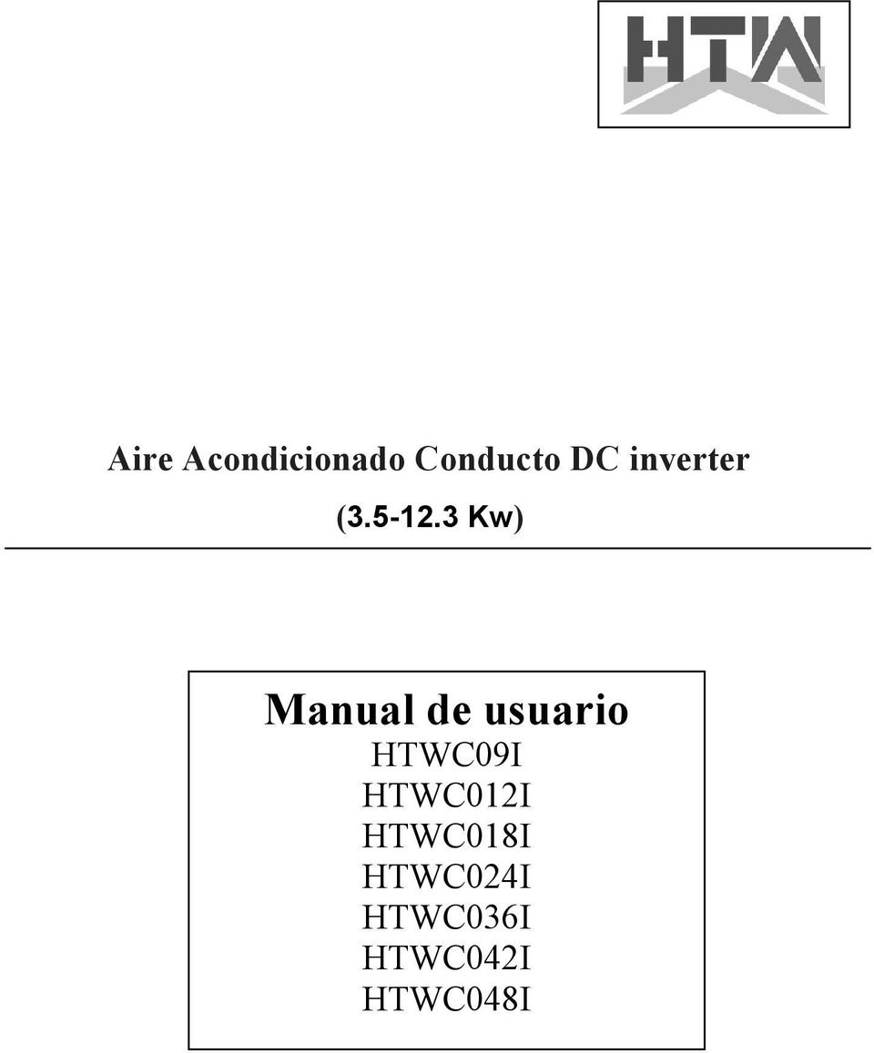 3 Kw) Manual de usuario HTWC09I