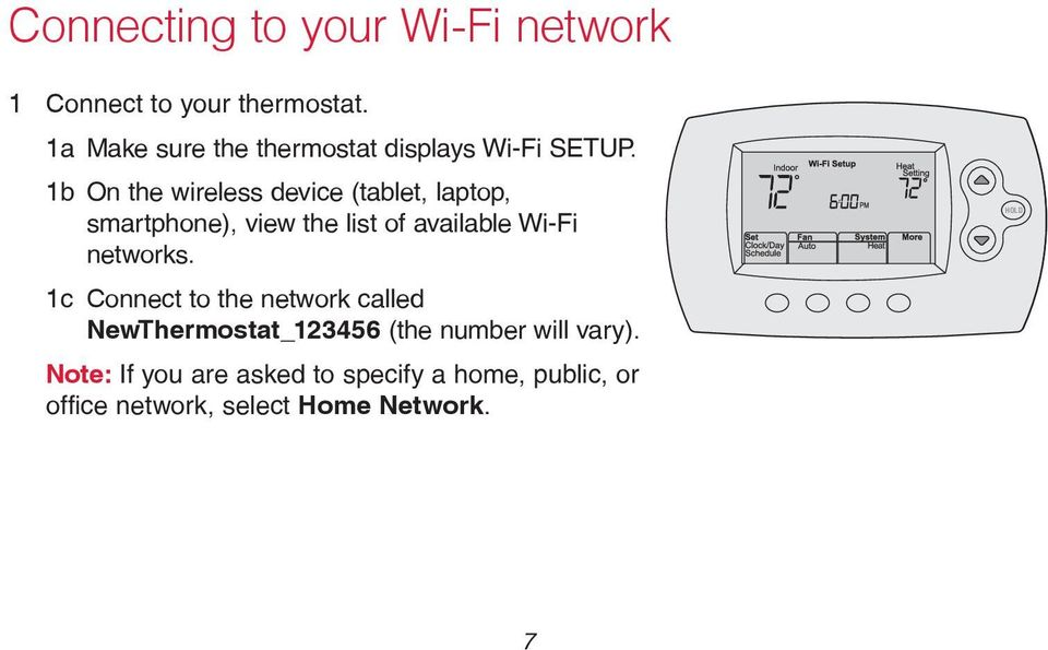 1b On the wireless device (tablet, laptop, smartphone), view the list of available Wi-Fi networks.