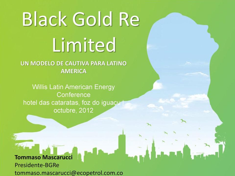 co Black Gold Re Limited UN MODELO DE CAUTIVA PARA