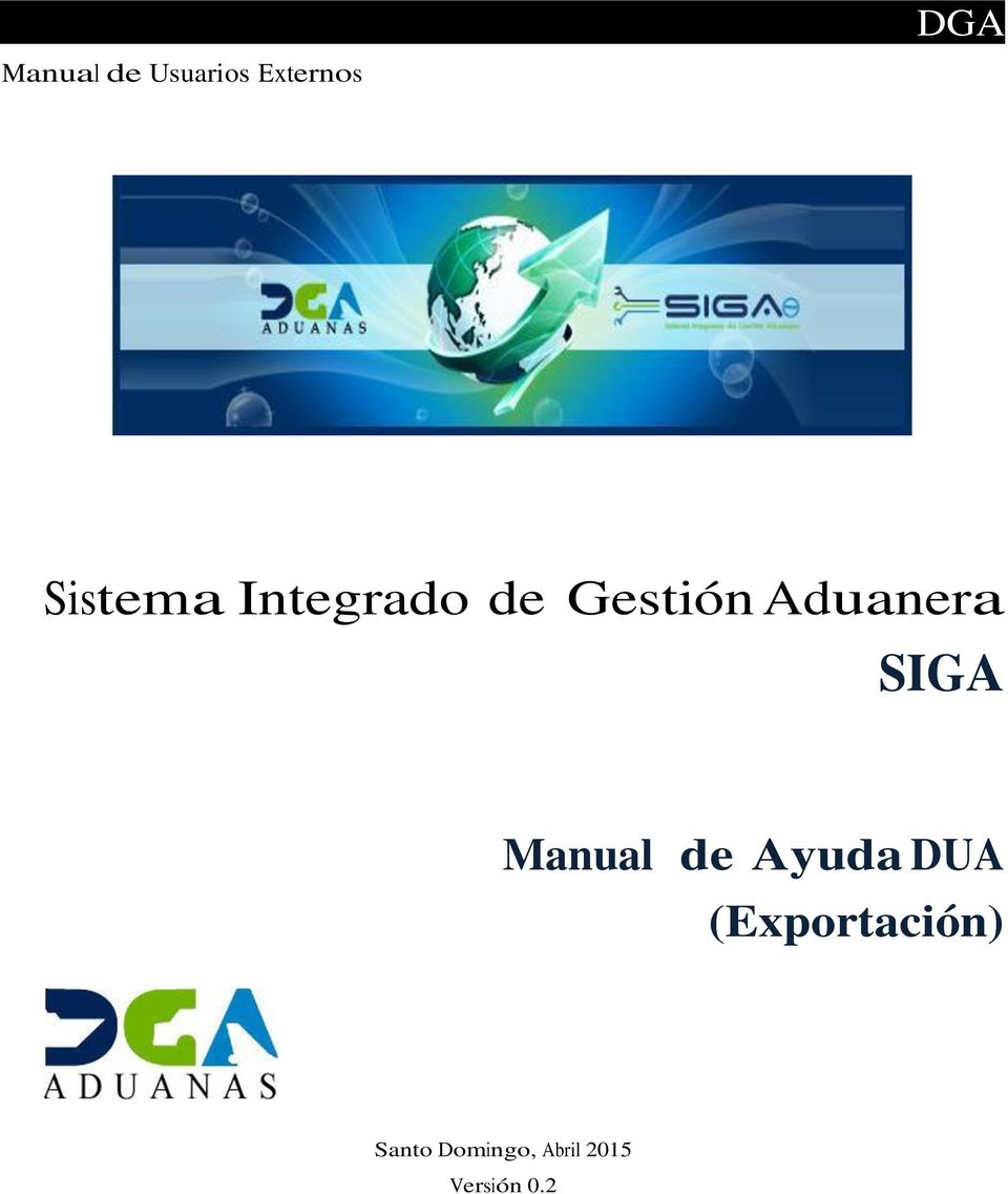 Aduanera SIGA Manual de Ayuda DUA
