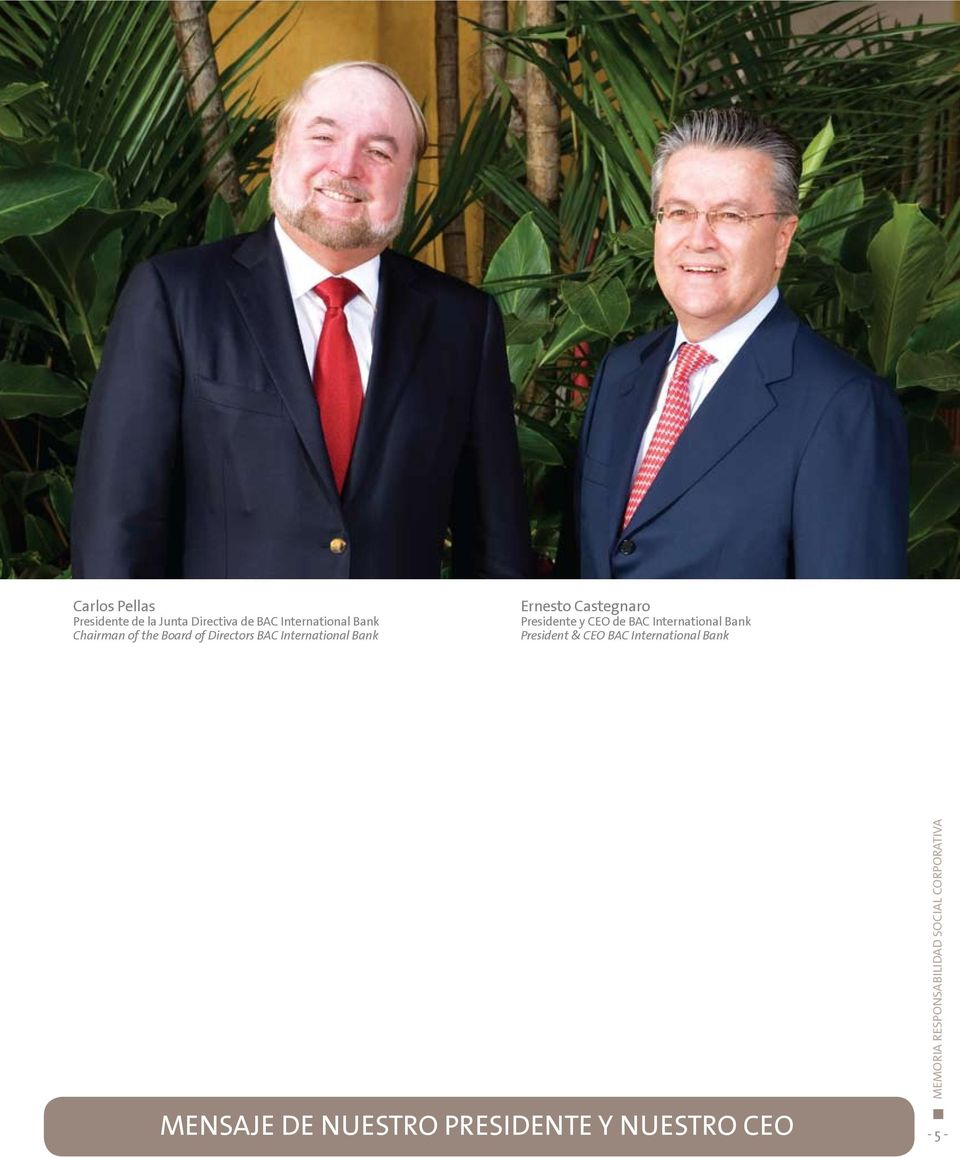 Castegnaro Presidente y CEO de BAC International Bank President & CEO