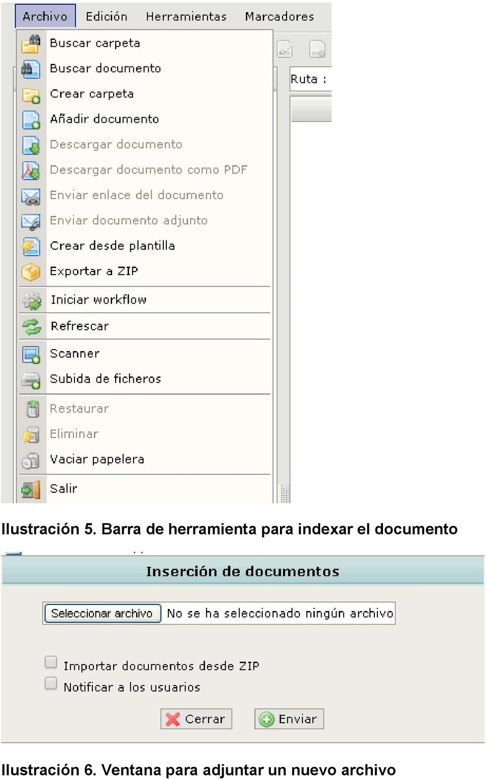 indexar el documento
