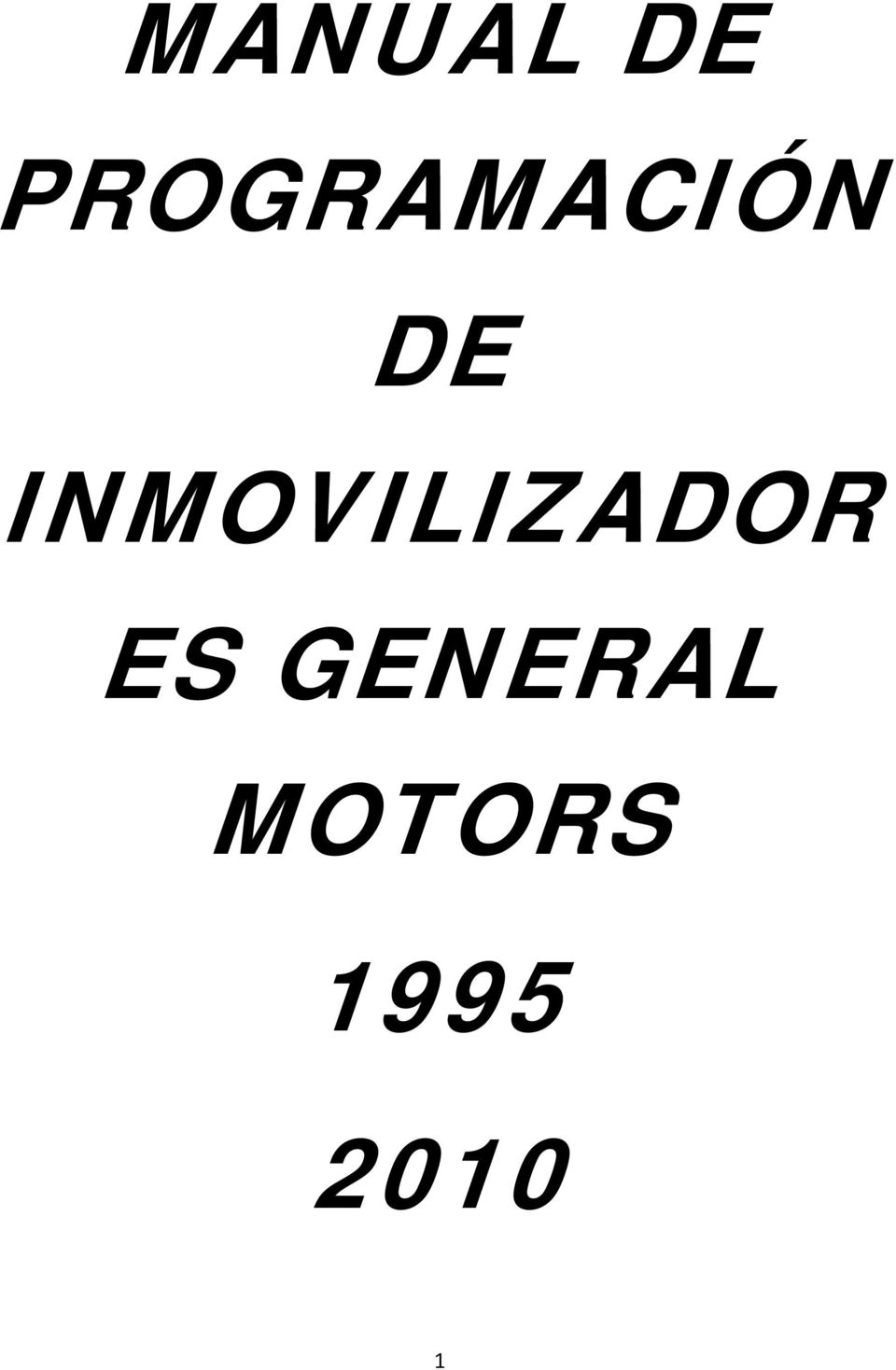manual de programaci u00d3n de inmovilizador es general motors