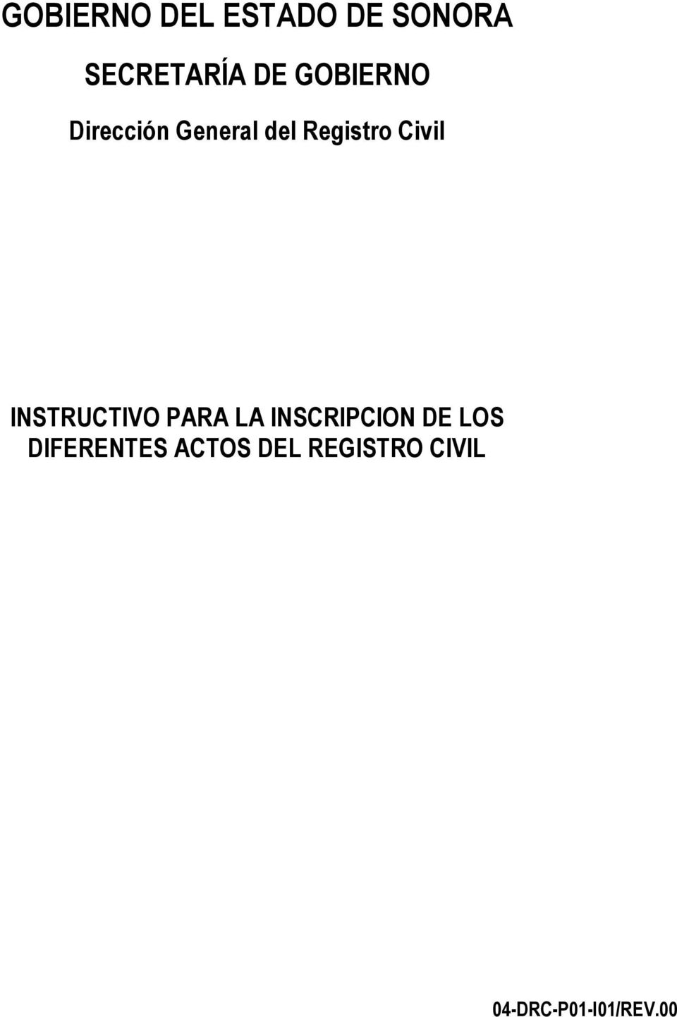 INSTRUCTIVO PARA LA INSCRIPCION DE LOS