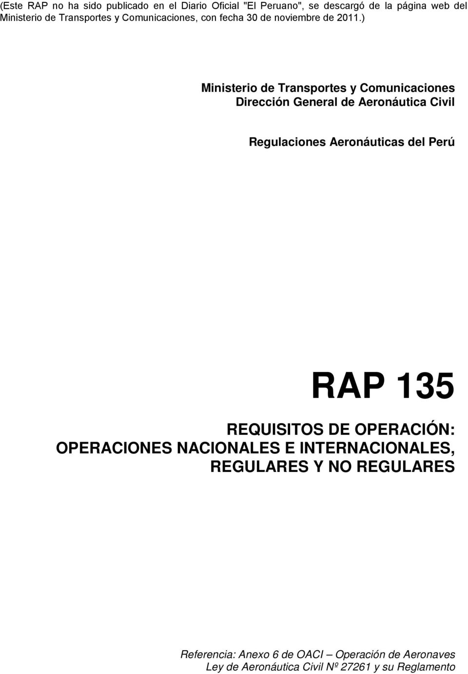OPERACIONES NACIONALES E INTERNACIONALES, REGULARES Y NO REGULARES Referencia: