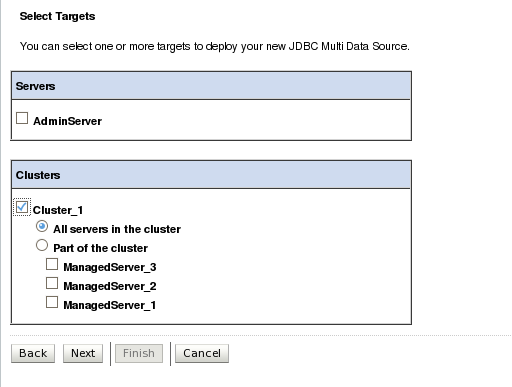 JBDC Multi Data Sources En el caso de que tengamos RAC, podemos optar por la configuración de Multi Data Sources.