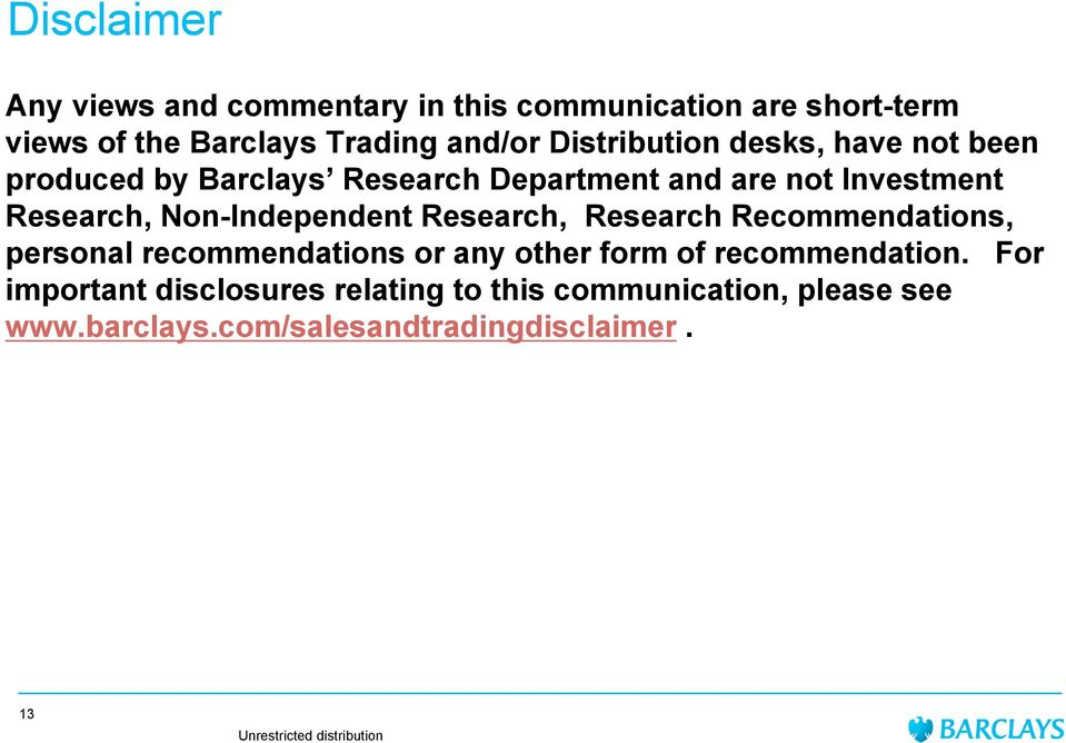 Non-Independent Research, Research Recommendations, personal recommendations or any other form of