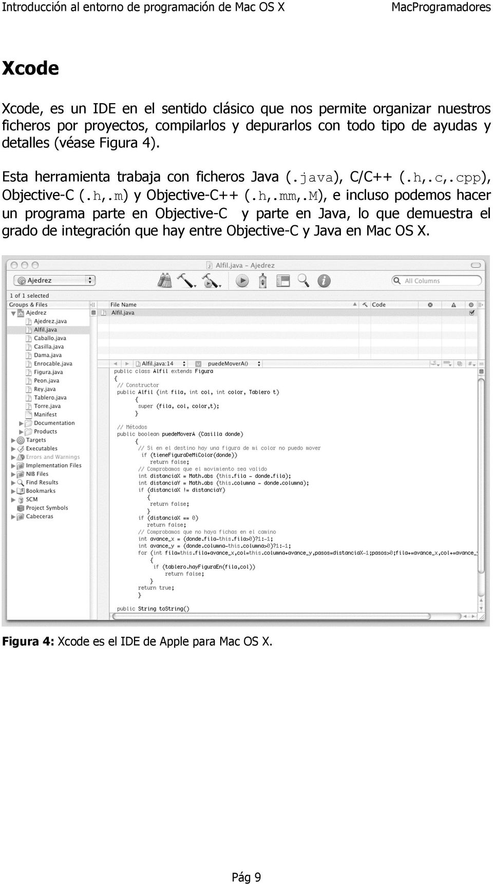 cpp), Objective-C (.h,.m) y Objective-C++ (.h,.mm,.