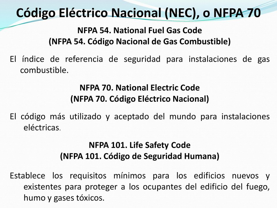 National Electric Code (NFPA 70.