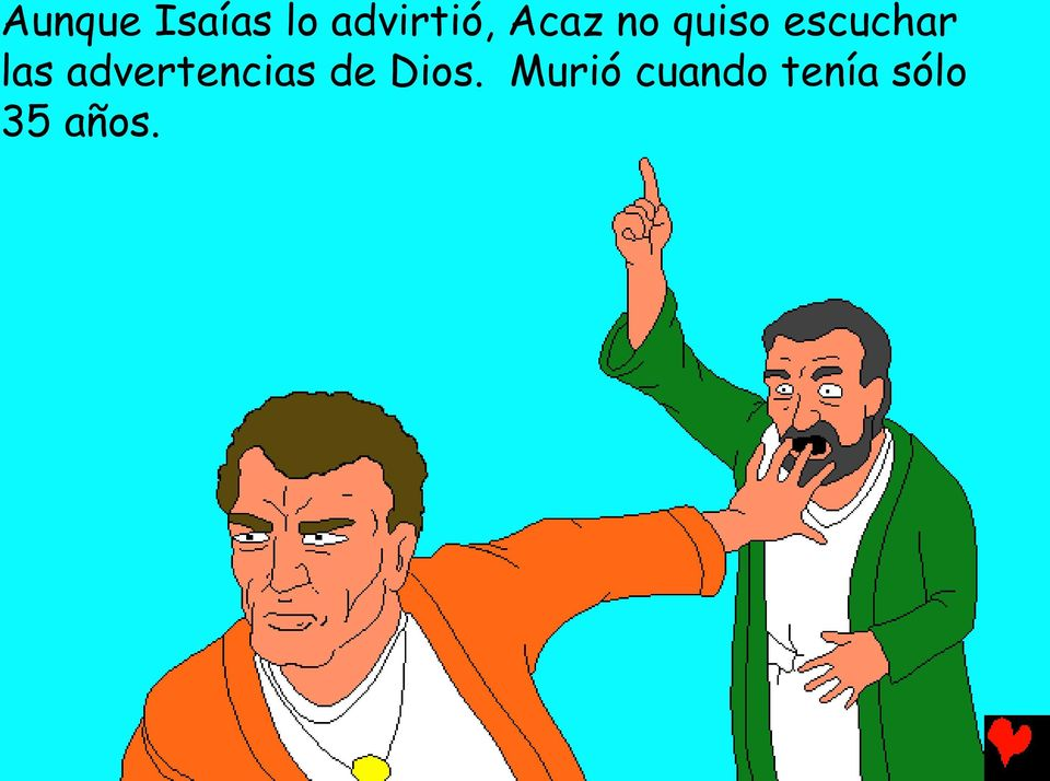 advertencias de Dios.